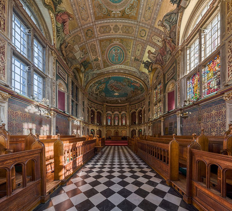 Interior of Royal Holloway's Chapel
